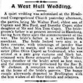 A West Hull Wedding, 1914 Dec 29, Hull Daily Mail