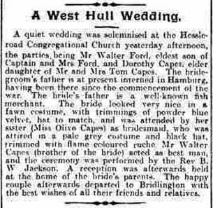 A West Hull Wedding