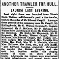 Another Trawler For Hull, 1896 Feb 28, Hull Daily Mail