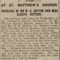 At St. Matthew's Church, 1924 Feb 14, Hull Daily Mail