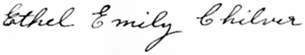 Ethel Emily Holmes signature