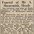 Funeral of Mr A. Shearsmith, Hessle, 1939 Oct 9, Hull Daily Mail