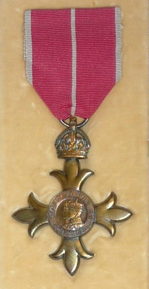 George Stephenson Ford OBE medal