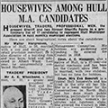 Housewives among Hull M.A. candidates, 1950 April 13, Hull Daily Mail