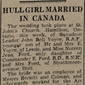Hull girl married in Canada, 1941 December 6, Hull Daily Mail