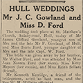 Mr J. C. Gowland and Miss D. Ford, 1933 April 10, Hull Daily Mail