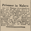 Prisoner in Malaya, 1942 Dec 29, Hull Daily Mail