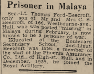 Prisoner in Malaya