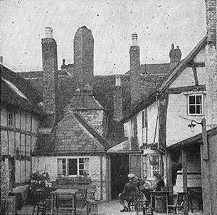 Tea garden at Stratford-on-Avon