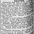 Death of Walter Ford, 1923 May 24, Hull Daily Mail