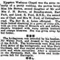 Wedding of Ernest Ford & Ida Burton, 1920 April 6, Hull Daily Mail