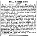 Hull Divorce Suit, 1912 January 13, Hull Daily Mail